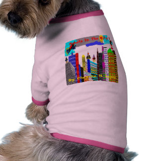 Trisha Blue Water CL Robots In City Pet Clothing
