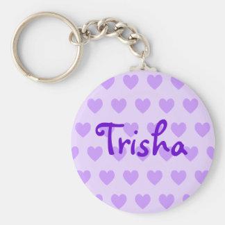Trisha in Purple Basic Round Button Keychain