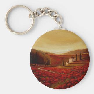 TrishBiddle Tuscan3 Basic Round Button Keychain