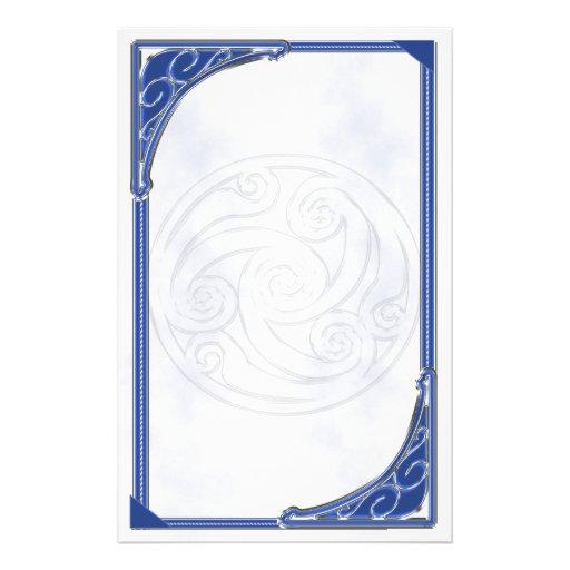 Triskel de plata azul  papeleria