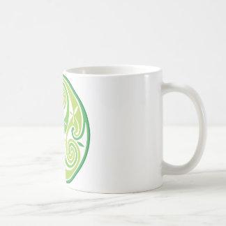 Triskel verde tazas de café