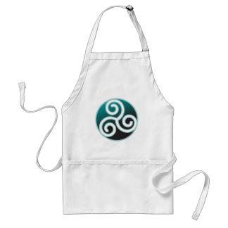 Triskele Celtic Spiral Adult Apron