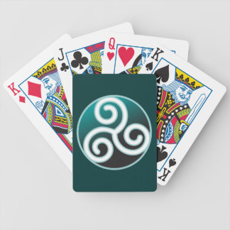 Triskele Celtic Spiral Bicycle Playing Cards