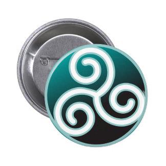 Triskele Celtic Spiral 2 Inch Round Button