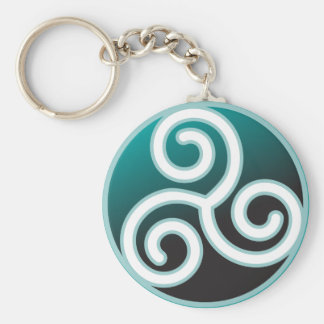 Triskele Celtic Spiral Keychain