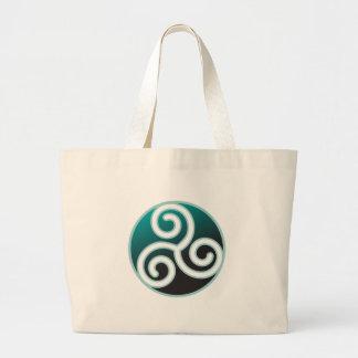 Triskele Celtic Spiral Large Tote Bag