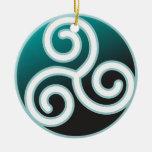 Triskele Celtic Spiral Ornaments