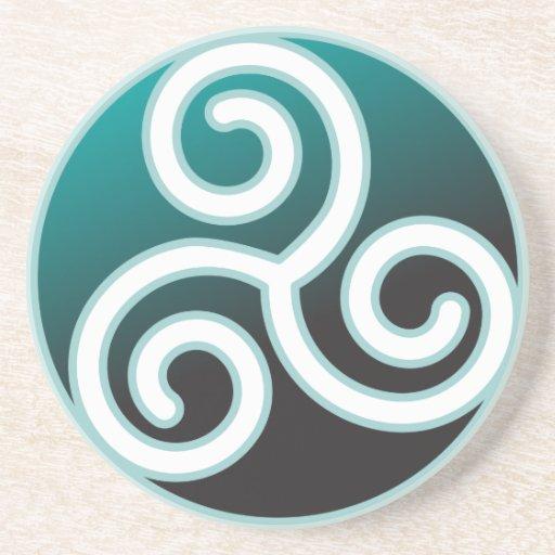 Triskele Celtic Spiral Sandstone Coaster