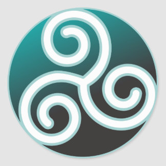Triskele Celtic Spiral Round Stickers