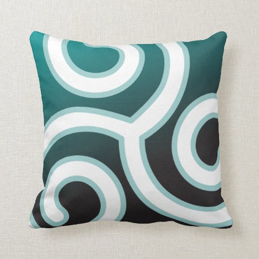 Triskele Celtic Spiral Throw Pillow
