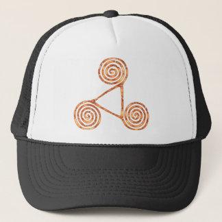 Triskele copper trucker hat