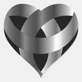 Triskele- de cuernos el cuerno de Odin Pegatina En Forma De Corazón