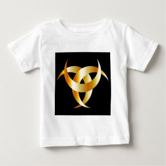 Triskele- de cuernos el cuerno de Odin Playera De Bebé
