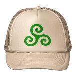 Triskele espiral verde gorra