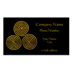 Triskele-gold Business Card Template
