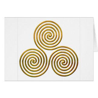 Triskele-gold Card