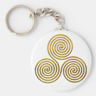 Triskele-gold Keychain