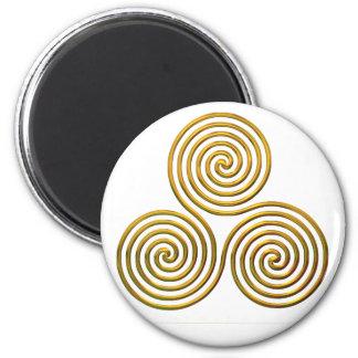 Triskele-gold Fridge Magnets
