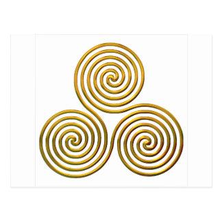Triskele-gold Postcard