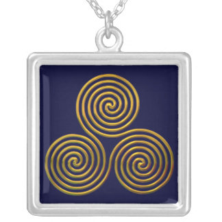 Triskele-gold Silver Plated Necklace