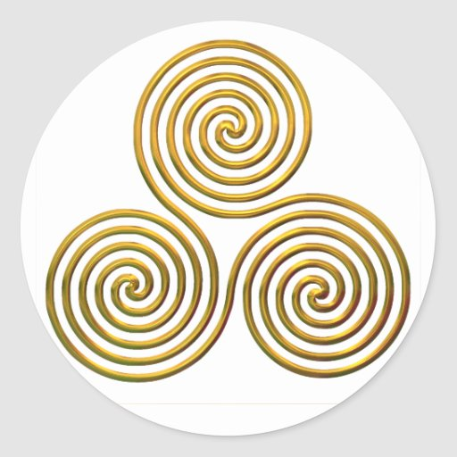 Triskele-gold Sticker
