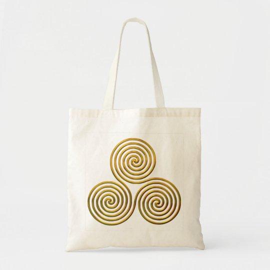 Triskele-gold Tote Bag