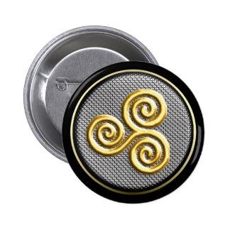 Triskele Pin Redondo De 2 Pulgadas