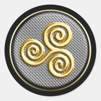 Triskele Round Sticker