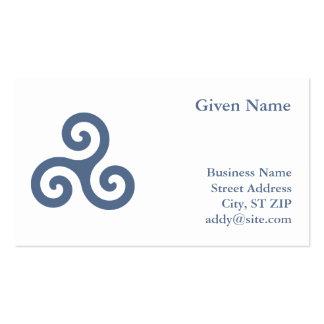 Triskelion azul plantilla de tarjeta de visita