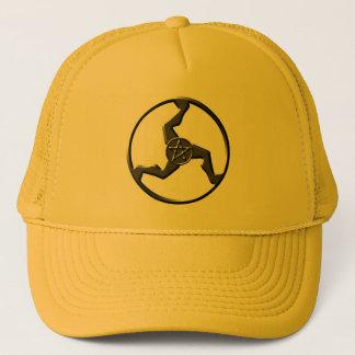 triskelion-gold-hat trucker hat
