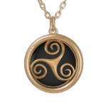 Triskelion Gold Plated Necklace