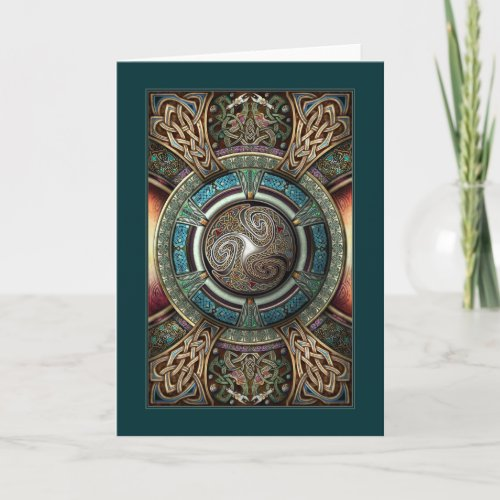 Triskelion Mandala Greeting Card