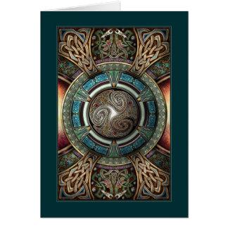 Triskelion Mandala Greeting Card
