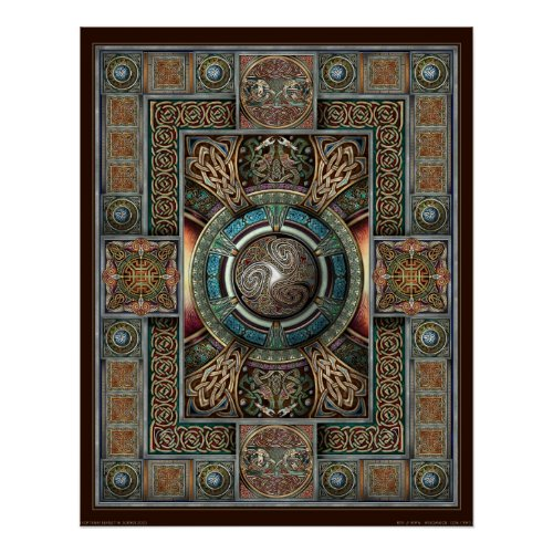 Triskelion Mandala II Poster (22x28