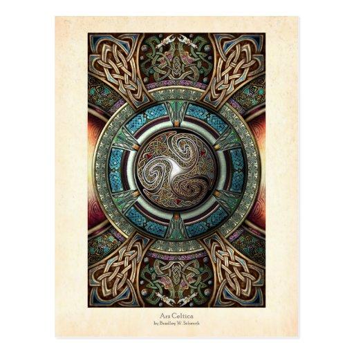 Triskelion Mandala Postcard