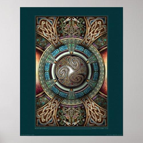 Triskelion Mandala poster (16x20