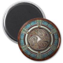 Triskelion Round Magnet