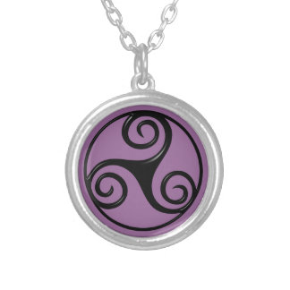 Triskelion Silver Plated Necklace