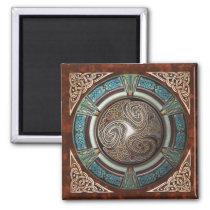 Triskelion Square Magnet