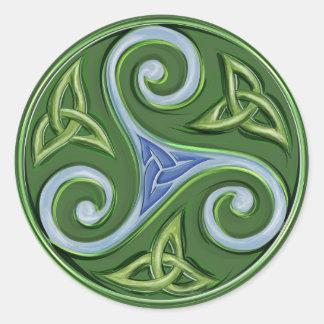 Triskelle Classic Round Sticker