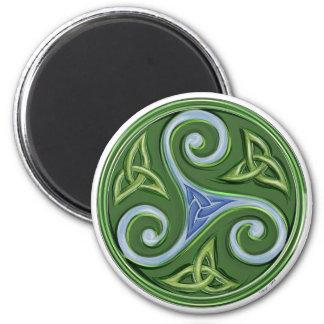 Triskelle 2 Inch Round Magnet