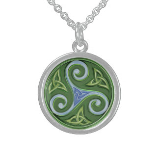 Triskelle Sterling Silver Necklace