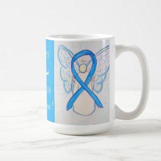 Trisomy 18 Awareness Ribbon Angel Mug