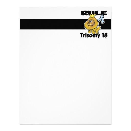 Trisomy 18 de la regla membrete a diseño