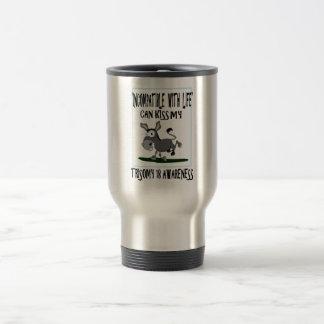 Trisomy 18 Donkey Travel Mug