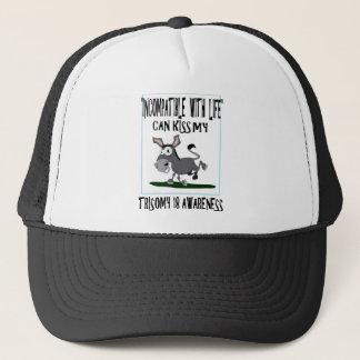Trisomy 18 Donkey Trucker Hat