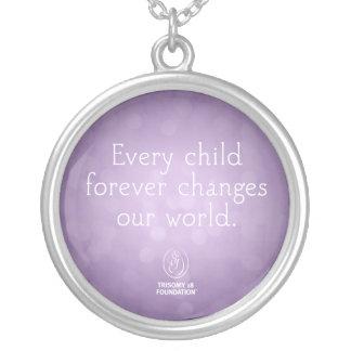 Trisomy 18 Foundation Every Child Necklace