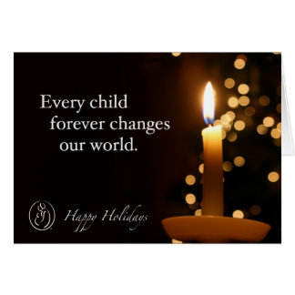 Trisomy 18 Foundation Happy Holidays Candle Quote Greeting Card