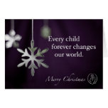 Trisomy 18 Foundation Merry Christmas Snowflakes Q Greeting Cards