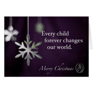 Trisomy 18 Foundation Merry Christmas Snowflakes Q Card
